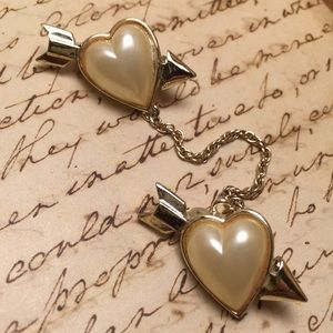 Vintage Double Heart Pin